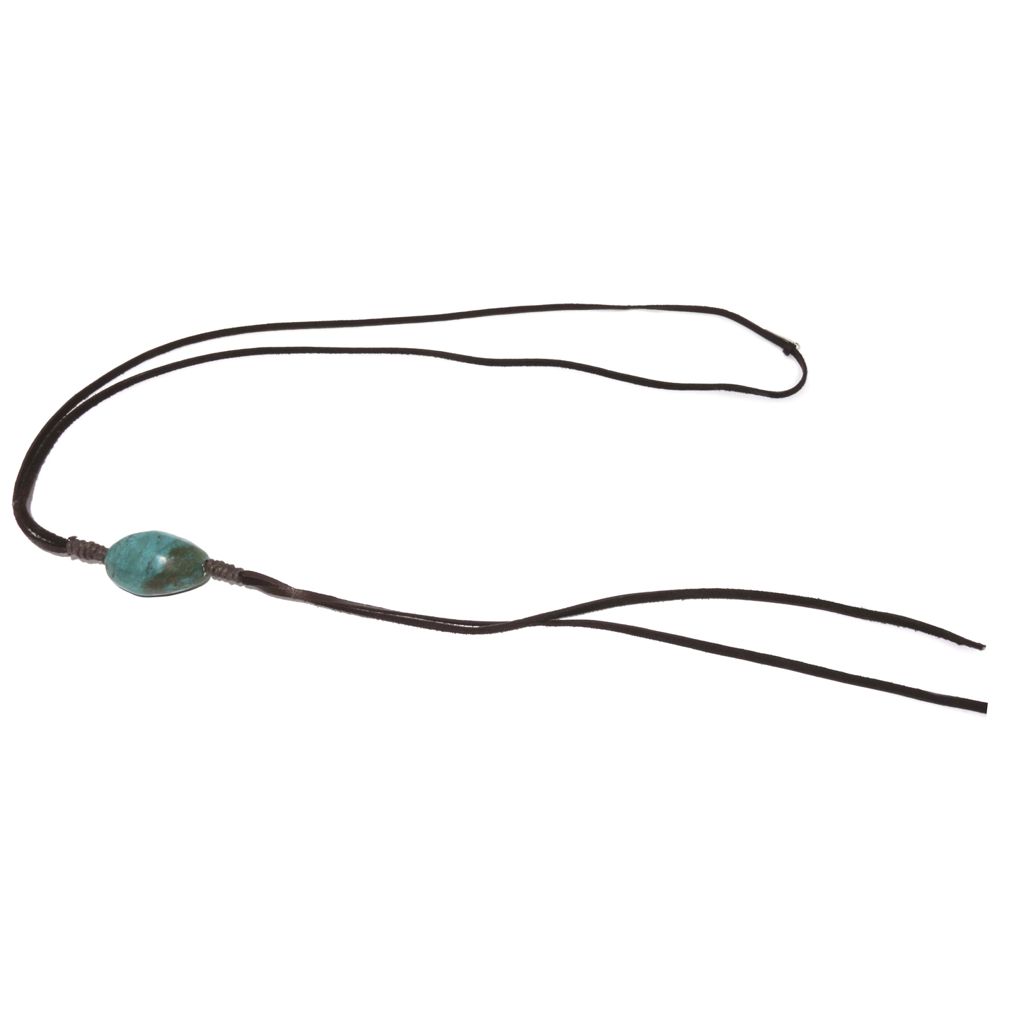 Leather and Turquoise Lariat
