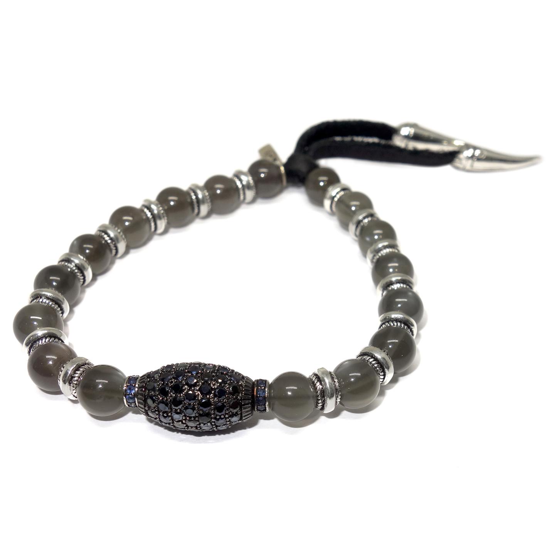 moonstone sapphire bead bracelet