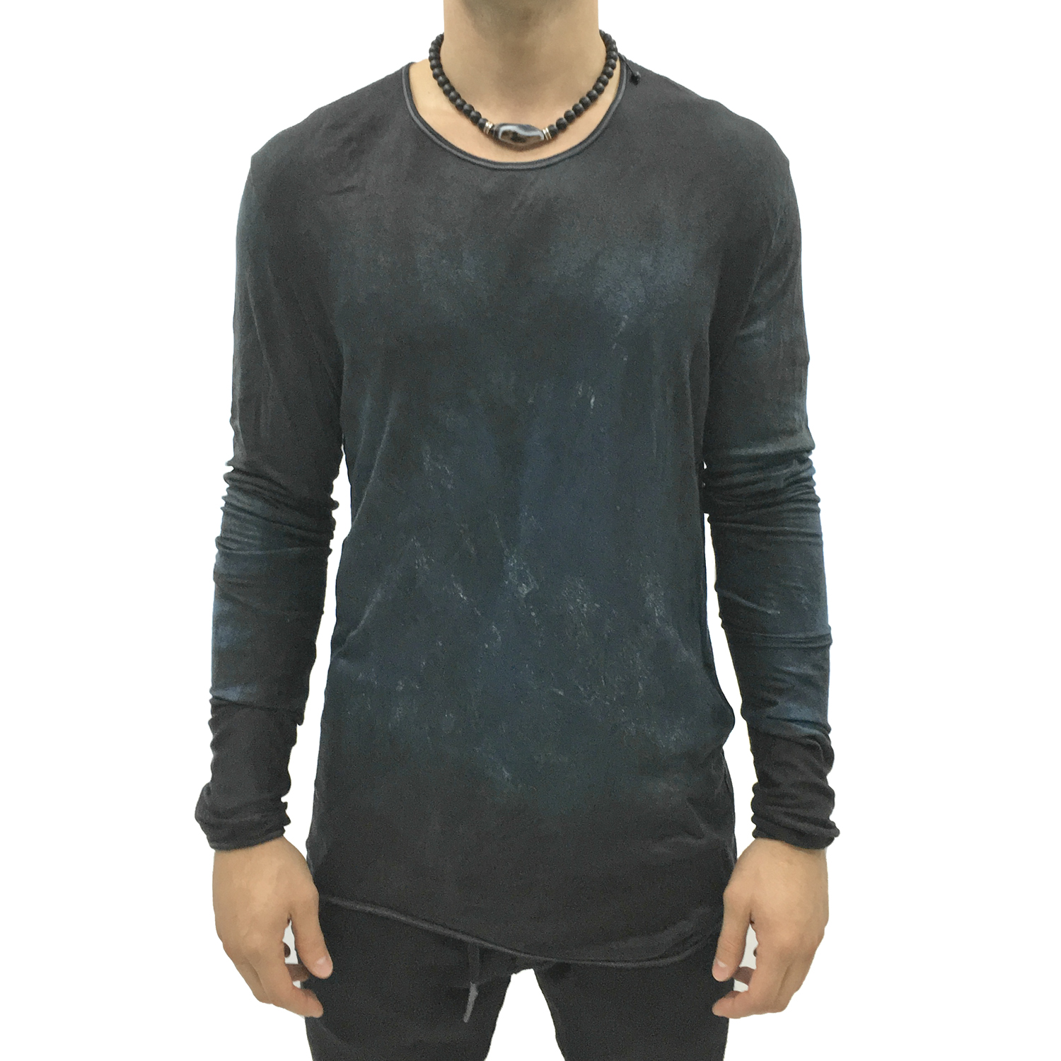 No, No, Yes! Navy Hand Dyed Men's Long-Sleeve Shirt