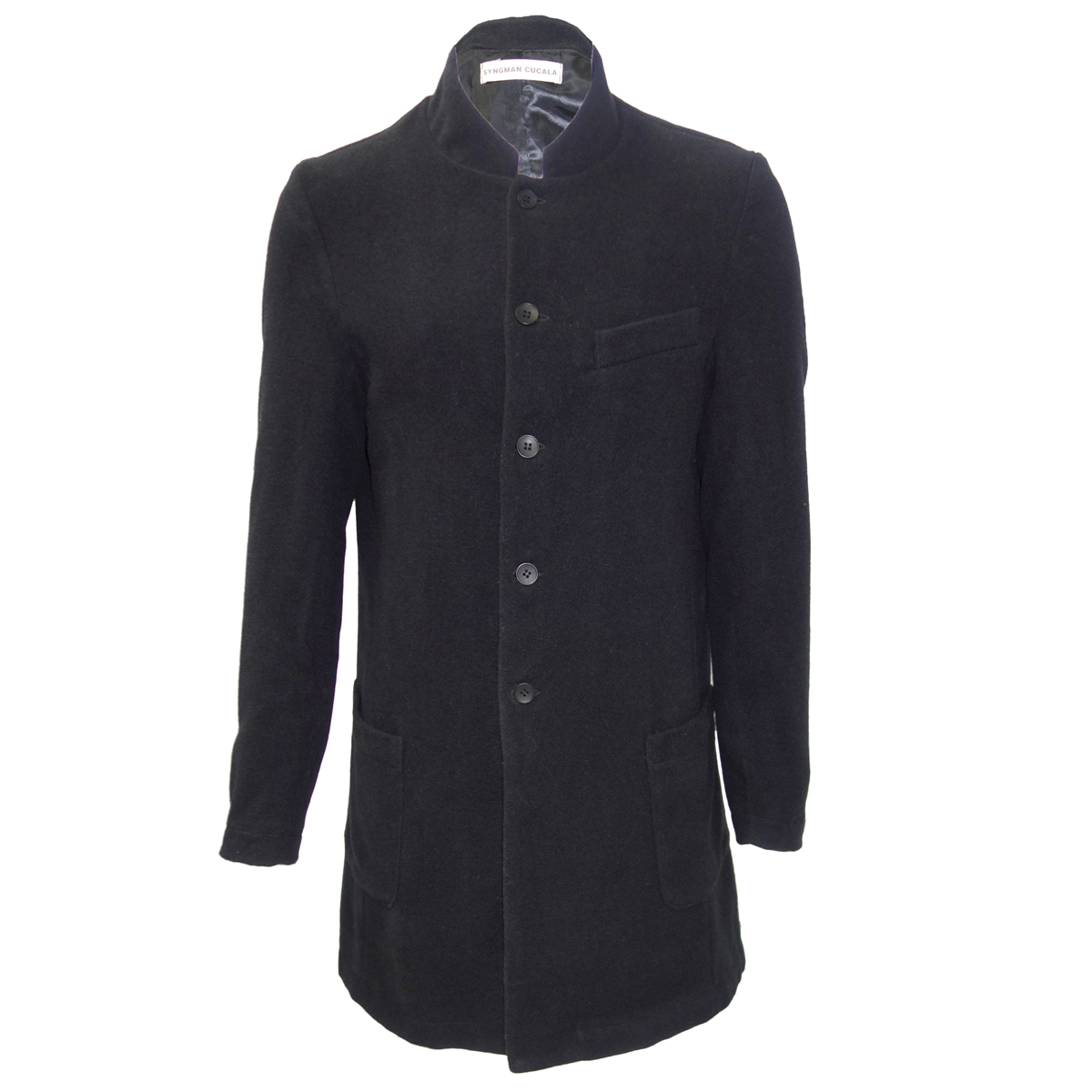 Syngman Cucala Nehru Collar Coat Lazaro Soho