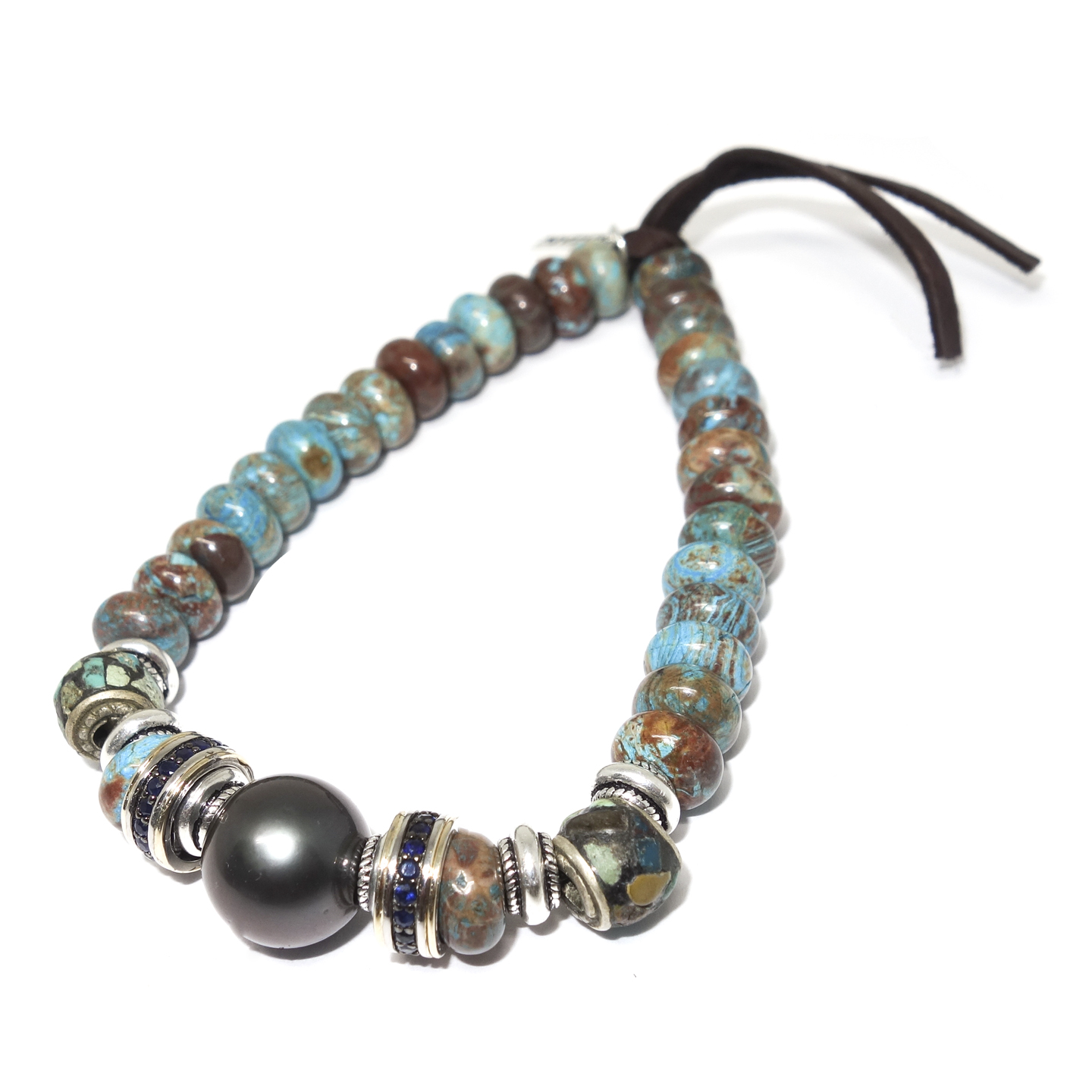 Turquoise & South Sea Pearl Bracelet