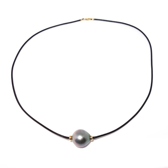 Gold & South Sea Pearl Men's Neclace