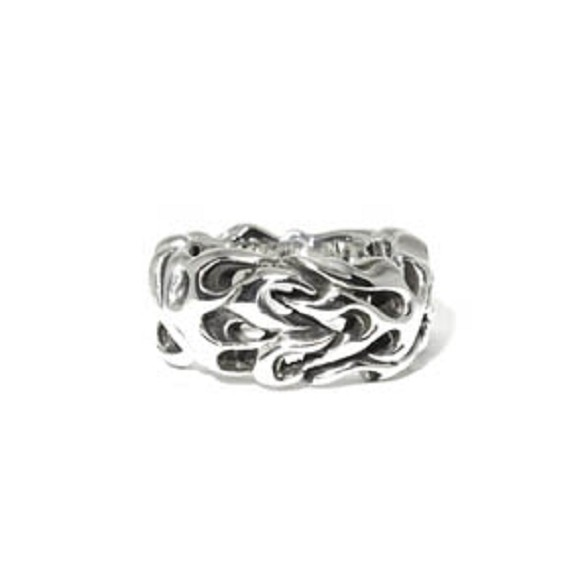 Sterling Silver Flame Ring