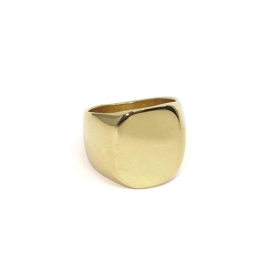 Classic Gold Large Men's Signet Ring
