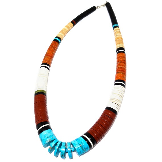 "18.5"" Native American Heishi Style Necklace"