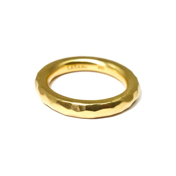 18K Hammered Gold Band