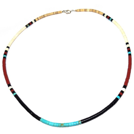 "26"" Native American Heishi Style Necklace"