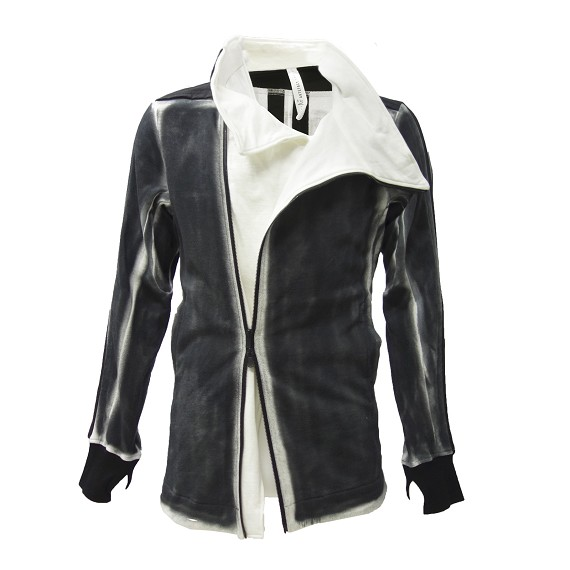 A. F. Artefact Distressed Zip Jacket