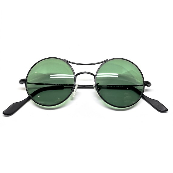 Black Matte Woody Standard Green TYG Sunglasses