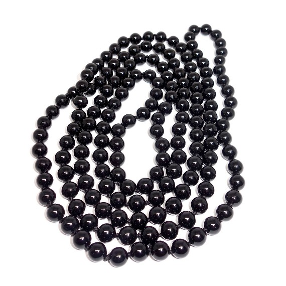 Black Onyx Infinity Necklace