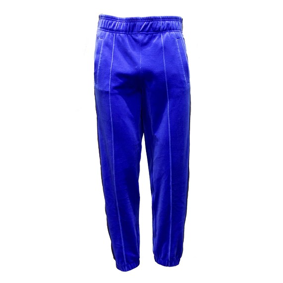 Blue & Gold Velvet Pants