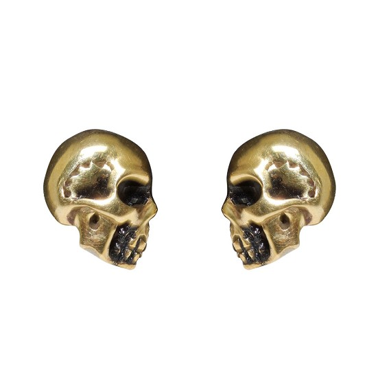 Brass Skull Earrings