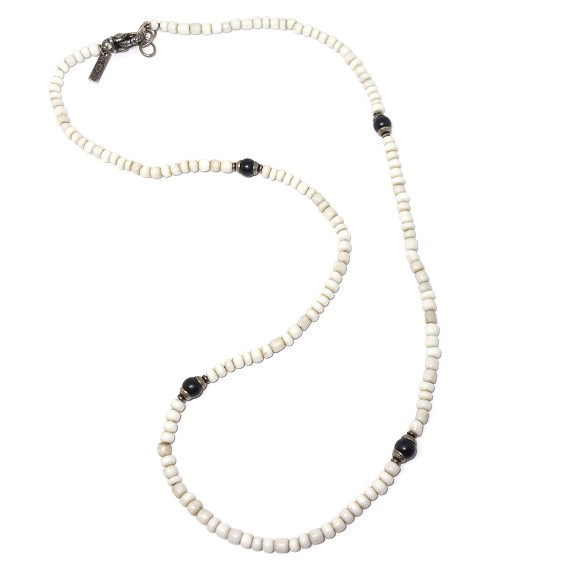 Ceramic, Onyx, & Sterling Silver Necklace