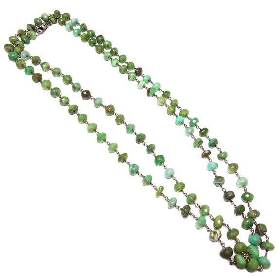 Chrysoprase & Sterling Silver Necklace