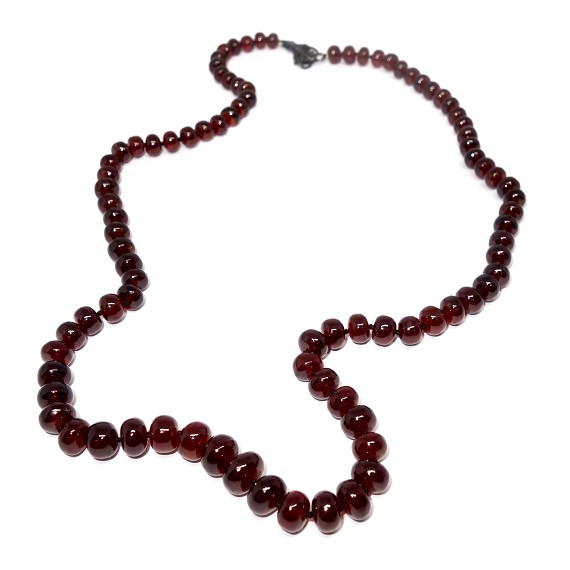 Hand Knotted Garnet Chain Necklace