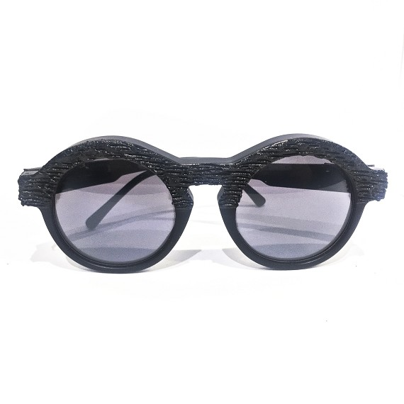 K3 Men's A4 Black Matte Lava Effect Sunglasses