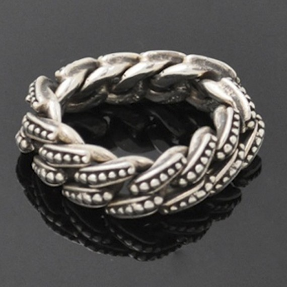 Beaded Chain Link Ring