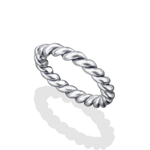 Large Silver Rope Ring