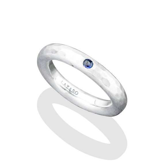 Silver & Blue Sapphire Ring