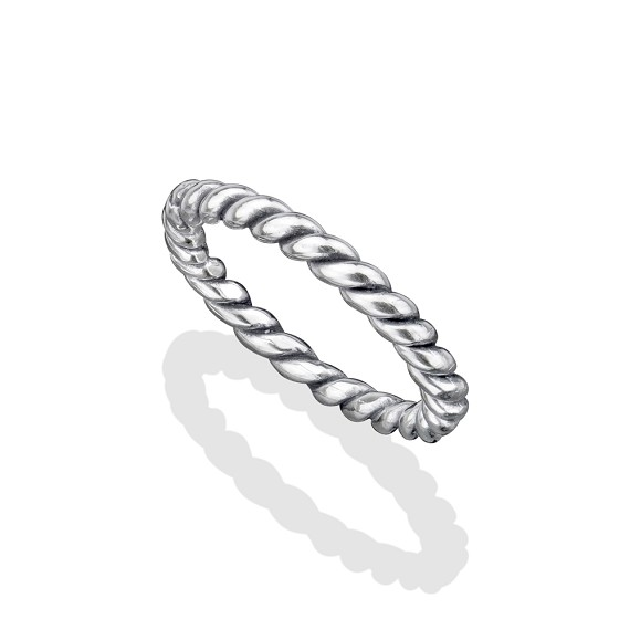 Small Silver Rope Ring