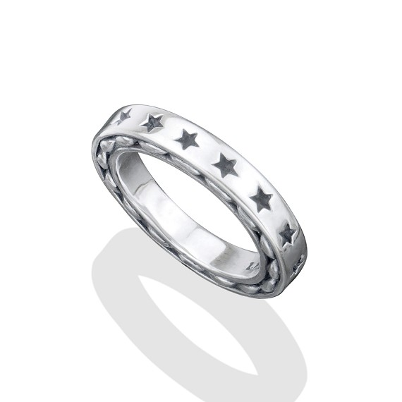 Solid Silver Star Ring