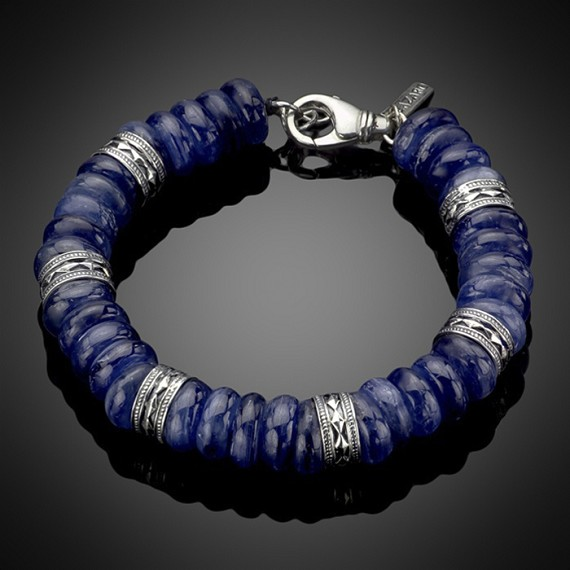 Kyanite Bracelet With Silver Rondels