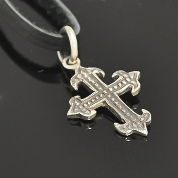 Silver Gothic Cross Charm
