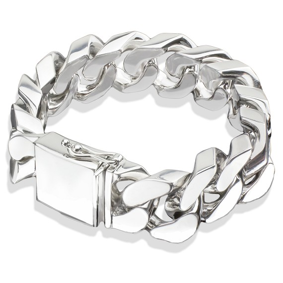 The Heavy Sterling Silver Cuban Link Bracelet