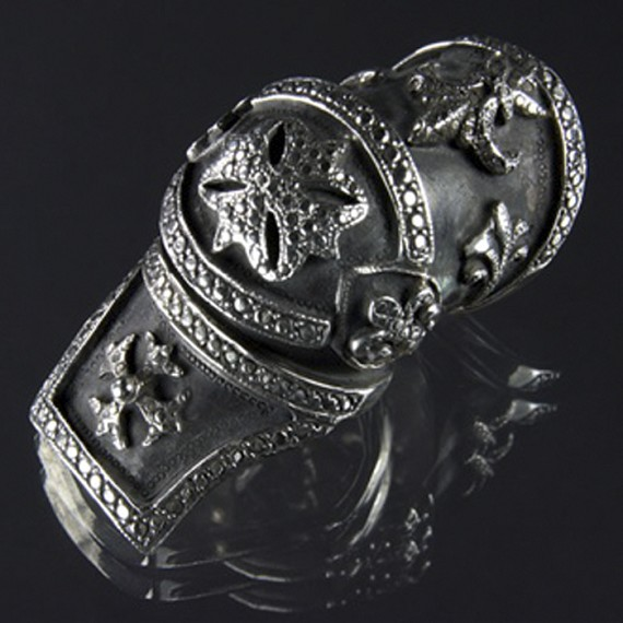 Patina Finished Armor Ring