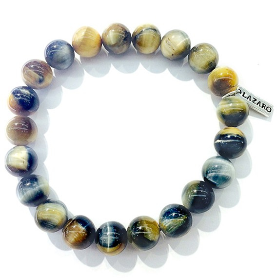 10mm Natural Tiger's Eye Beaded Bracelet