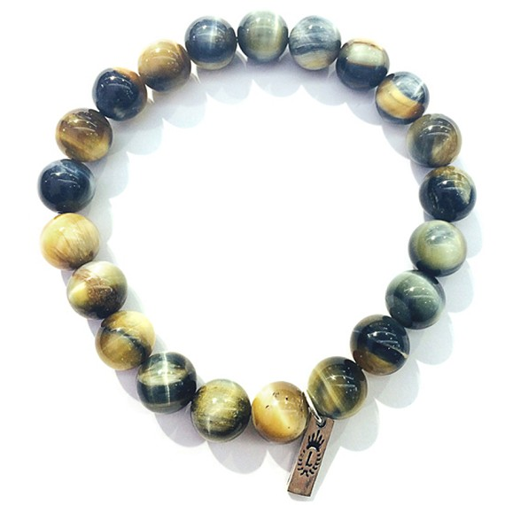 8mm Natural Tiger's Eye Bead Bracelet
