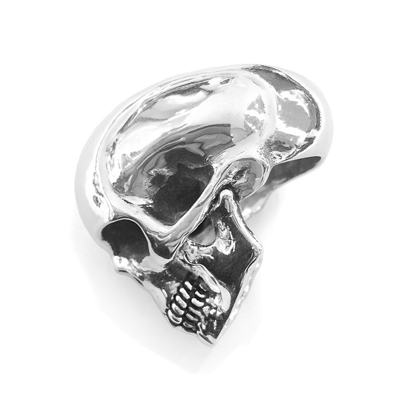Large Silver Skull Men's Ring