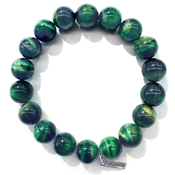 Green Tiger's Eye Bead Bracelet