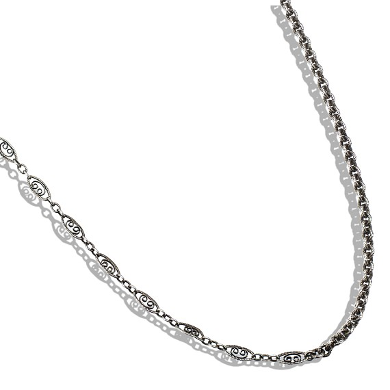 Limited Edition Men's Vintage Silver Mixed Chain
