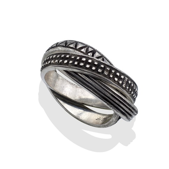 Men's Silver Rolling Trinity Ring