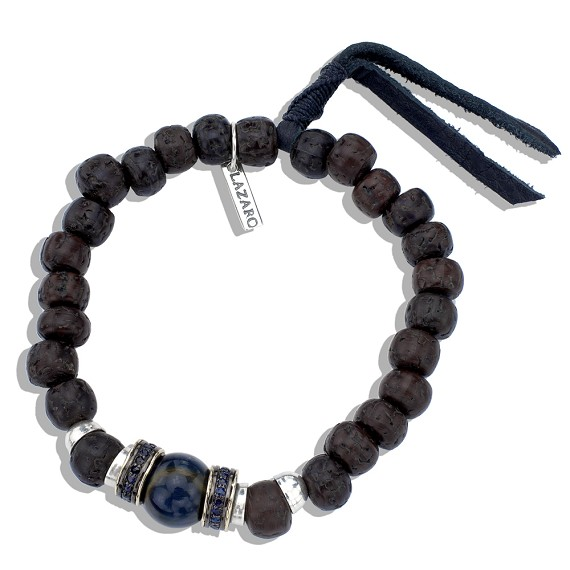 Tigers Eye Shire Tibetan Wood Bead Bracelet