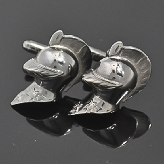 Rhodium Knight Cufflinks