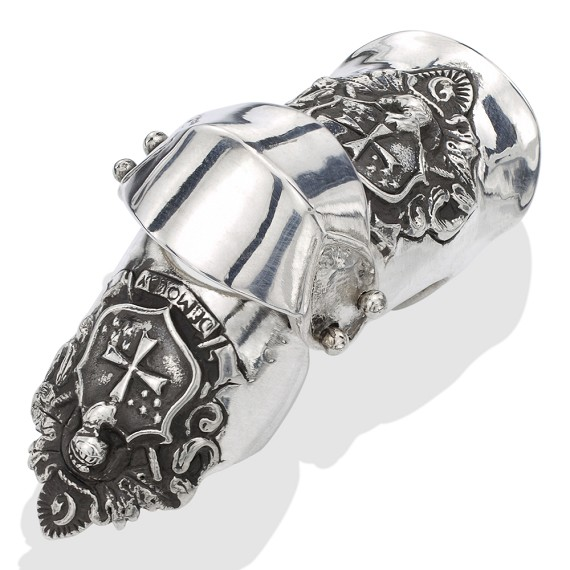 Shield Armor Silver Ring