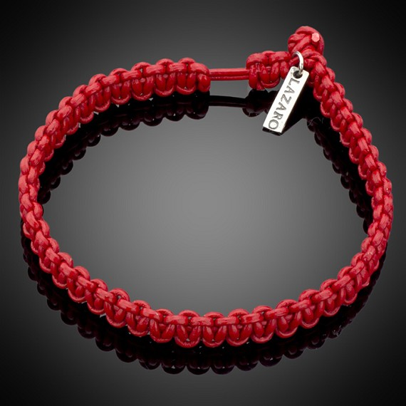691ed3abc80d63 Hand-Woven Men's Red Leather Bracelet - Men's Bracelets | Lazaro SoHo