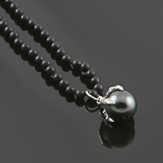 Eagle Claw Necklace with South Sea Pearl