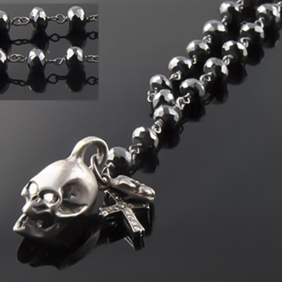 Skull & Cross Charm Necklace