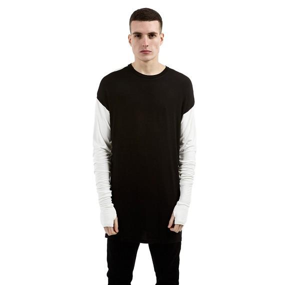 Represent Black   White Essential Long Sleeve Under T-shirt - Men s Shirts   bcc0480b51c