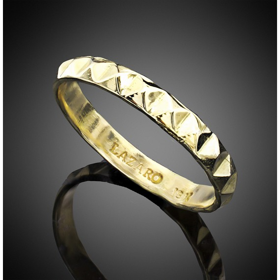 18K Gold Infinity Pyramid Band
