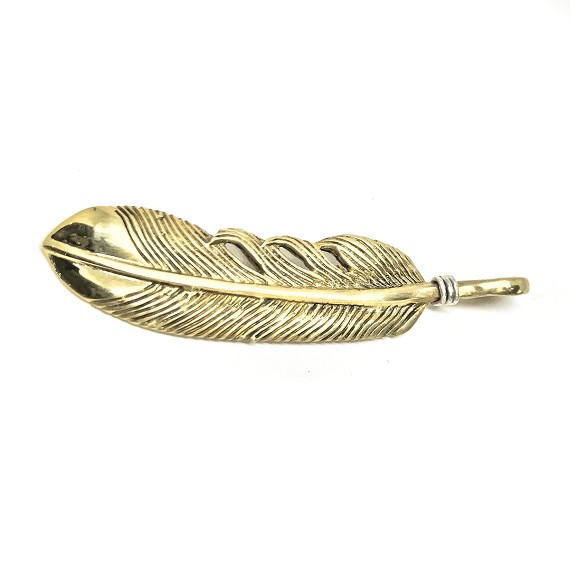 Limited Edition Brass & Silver Feather Pendant