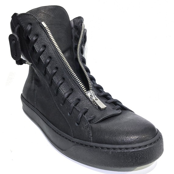 The Last Conspiracy Men's Front Zip Leather Boots