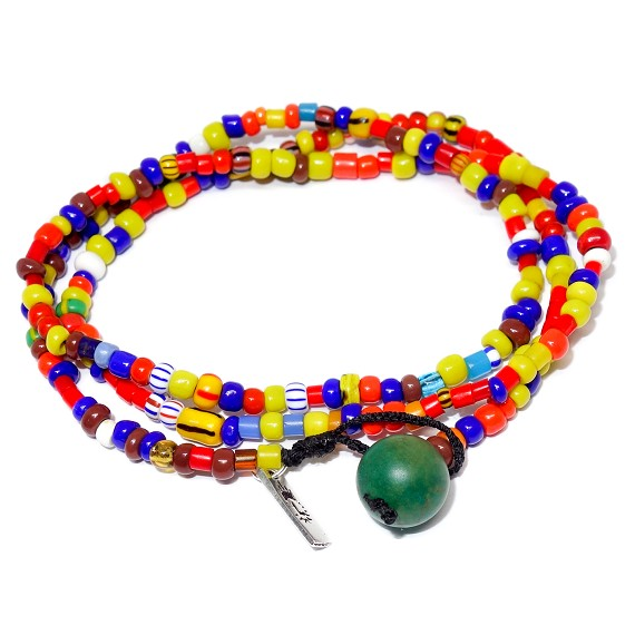 Mixed Ceramic Beaded 2-in-1 Bracelet and Necklace