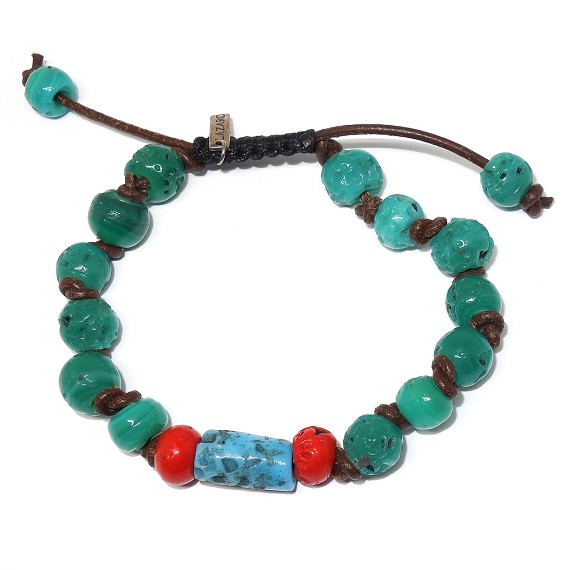 Multicolor Ceramic Beaded Bracelet