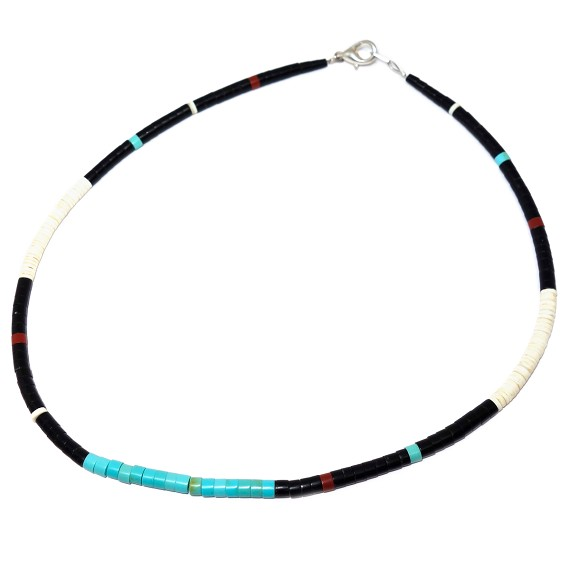 Small Heishi Bead Necklace