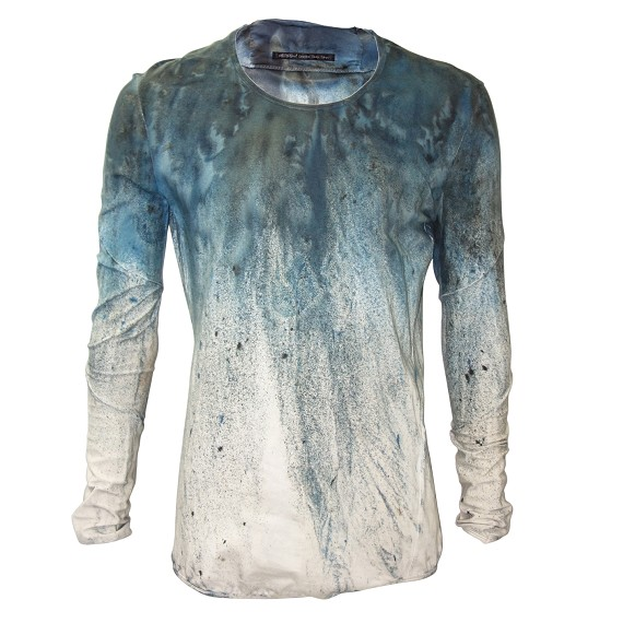 No No Yes Blue Dyed Shirt -Pre Fall