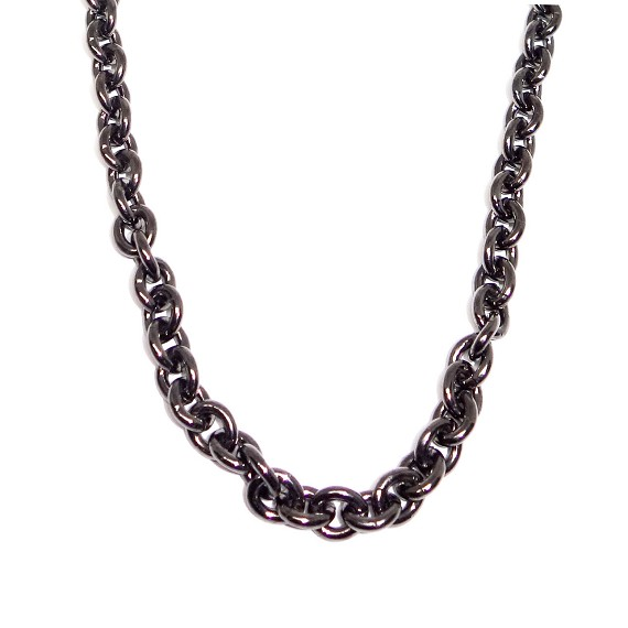 Rhodium Plated Brass Chain Necklace